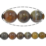 Veins Natyrore Dragon agat Beads, Agat Dragon venë, Round, 10mm, : 2.2mm, : 15.5Inç, 10Fillesat/Shumë,  Shumë