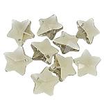 Crystal Pendants, Kristal, Yll, i tejdukshëm, Greige, 13x13x8mm, : 1mm, 10PC/Qese,  Qese