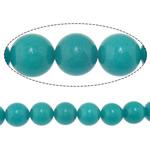 Beads Mermer Natyrore, Round, i lyer, 12mm, : 2mm, :15.8Inç, 10Fillesat/Shumë,  Shumë