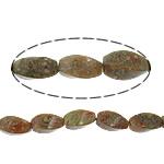 Beads Unakite, Kthesë, natyror, 8x16mm, : 1.5mm, :16Inç, 10Fillesat/Shumë,  Shumë