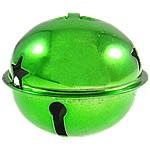 Hekuri Pendants Bell, pikturë, e gjelbër, , nikel çojë \x26amp; kadmium falas, 43x50mm, : 9x5mm, 50PC/Qese,  Qese