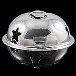 Hekuri Pendants Bell, pikturë, argjend, , nikel çojë \x26amp; kadmium falas, 28x35mm, : 7x3mm, 100PC/Qese,  Qese