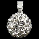 Varëse diamant i rremë, Round, me diamant i rremë, Kristal, 19x10mm, : 7x3mm, 10PC/Qese,  Qese
