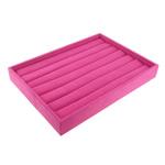 Display Velveteen Ring, Drejtkëndësh, asnjë, rose rozë, 280x200x35mm, 5PC/Shumë,  Shumë