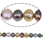 Barok Beads kulturuar Pearl ujërave të ëmbla, Pearl kulturuar ujërave të ëmbla, i lyer, ngjyra të përziera, 8.5-9mm, : 1mm, :15.4Inç,  15.4Inç,