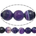 Beads Natyrore Purple agat, Round, asnjë, makinë faceted & shirit, 12mm, : 1-1.5mm, :15Inç, 5Fillesat/Shumë,  Shumë