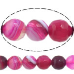 Dashuri Rose Beads agat, Rose agat, Round, asnjë, makinë faceted & shirit, 12mm, : 1-1.5mm, :15Inç, 5Fillesat/Shumë,  Shumë