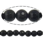 Beads Black Stone, Round, 6mm, : 2mm, :15Inç, 10Fillesat/Shumë,  Shumë
