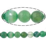Beads Dashuri Green agat, Jeshile agat, Round, asnjë, makinë faceted & shirit, 6mm, : 2mm, :15Inç, 10Fillesat/Shumë,  Shumë