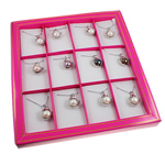 Ujërave të ëmbla Pearl gjerdan Zinxhiri tunxh, Pearl kulturuar ujërave të ëmbla, Round, ngjyra të përziera, 19x30mm, :15.5Inç, 12Fillesat/Kuti,  Kuti