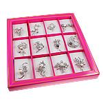 Karficë zbukurimi diamant i rremë, me diamant i rremë, ngjyra të përziera, 30-66mm, 12PC/Kuti,  Kuti