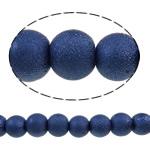 Stardust Glass Beads, Xham, Round, asnjë, blu, 10mm, : 1-1.5mm, : 8.3Inç, 10Fillesat/Qese,  Qese