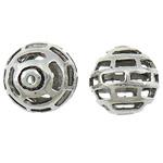 Beads aliazh zink Hollow, Alloy zink, Round, Ngjyra antike argjendi praruar, asnjë, asnjë, , nikel çojë \x26amp; kadmium falas, 15mm, : 1.8mm, 100PC/Qese,  Qese