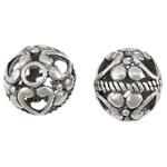 Beads aliazh zink Hollow, Alloy zink, Round, Ngjyra antike argjendi praruar, asnjë, asnjë, , nikel çojë \x26amp; kadmium falas, 15mm, : 3mm, 100PC/Qese,  Qese