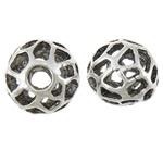 Beads aliazh zink Hollow, Alloy zink, Round, Ngjyra antike argjendi praruar, asnjë, asnjë, , nikel çojë \x26amp; kadmium falas, 11.80x10.50mm, : 3mm, 100PC/Qese,  Qese