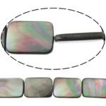 Beads Zi Shell, Drejtkëndësh, natyror, asnjë, asnjë, 18x25x3mm, : 0.7mm, :14Inç, 5Fillesat/Shumë,  Shumë