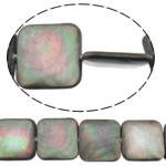 Beads Zi Shell, Katror, natyror, asnjë, asnjë, 18x18x4mm, : 0.7mm, :15.5Inç, 5Fillesat/Shumë,  Shumë