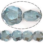 Imitim Swarovski Crystal Beads, Kristal, Lule, plotë kromuar, imitim kristal Swarovski, Montana, 20x20x11mm, : 1.2mm, 100PC/Shumë,  Shumë