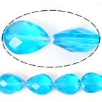 Imitim Swarovski Crystal Beads, Kristal, Lot, asnjë, imitim kristal Swarovski & makinë faceted, Akuamarin, 12x16x10mm, : 1.2mm, 100PC/Shumë,  Shumë