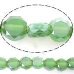 Imitim Swarovski Crystal Beads, Kristal, Round Flat, asnjë, imitim kristal Swarovski & makinë faceted, Peridot, 6x6x3.50mm, : 1mm, : 22Inç, 5Fillesat/Shumë,  Shumë