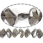 Imitim Swarovski Crystal Beads, Kristal, Nuggets, plotë kromuar, imitim kristal Swarovski, Hije Crystal Bronze, 19x12x7mm, : 1mm, 100PC/Shumë,  Shumë