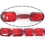 Imitim Swarovski Crystal Beads, Kristal, Drejtkëndësh, asnjë, imitim kristal Swarovski & makinë faceted, Siam, 13x18x7mm, : 1mm, 100PC/Shumë,  Shumë