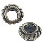 Bali Sterling Silver Beads, Tajlandë, Rondelle, asnjë, asnjë, asnjë, 5x5x3mm, : 2mm, 50PC/Qese,  Qese