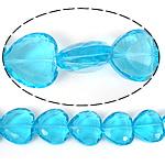 Imitim Swarovski Crystal Beads, Kristal, Zemër, asnjë, imitim kristal Swarovski & makinë faceted, Akuamarin, 22x22x9mm, : 1mm, 100PC/Shumë,  Shumë