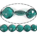 Imitim Swarovski Crystal Beads, Kristal, Romb, asnjë, faceted & imitim kristal Swarovski, Smerald, 22x22x11mm, : 1mm, 100PC/Shumë,  Shumë