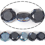 Imitim Swarovski Crystal Beads, Kristal, Round Flat, gjysmë-kromuar, imitim kristal Swarovski, Reaktiv, 12x12x7mm, : 1.2mm, 300PC/Shumë,  Shumë