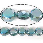 Imitim Swarovski Crystal Beads, Kristal, Round Flat, gjysmë-kromuar, imitim kristal Swarovski, Smerald, 12x12x7mm, : 1.2mm, 300PC/Shumë,  Shumë