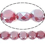 Imitim Swarovski Crystal Beads, Kristal, Round Flat, plotë kromuar, imitim kristal Swarovski, Siam, 12x12x7mm, : 1.2mm, 300PC/Shumë,  Shumë
