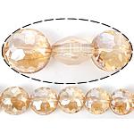 Imitim Swarovski Crystal Beads, Kristal, Round Flat, asnjë, imitim kristal Swarovski & makinë faceted, Gëlqere, 14x14x9mm, : 1mm, 100PC/Shumë,  Shumë