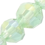 Imitim Swarovski Crystal Beads, Kristal, Round, plotë kromuar, imitim kristal Swarovski, Peridot, 4mm, : 1mm, 30Fillesat/Shumë,  Shumë