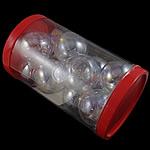 Beads lulëzim Lampwork, Round, fryj, e bardhë, 38x33mm, 80x137mm, 12PC/Kuti,  Kuti
