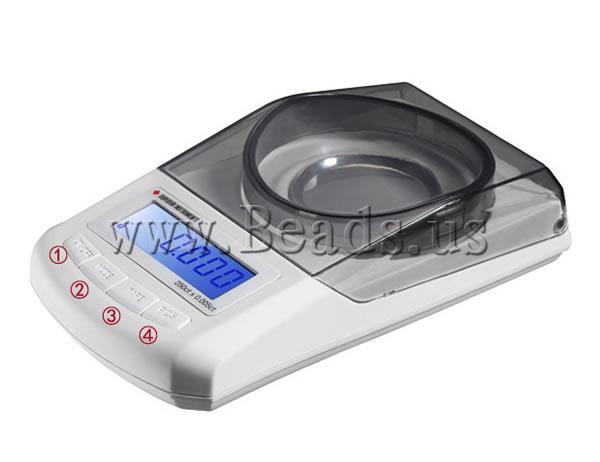 Digital Scale Pocket, ABS plastike, Shape Tjera, asnjë, asnjë, e bardhë, 130x70x30mm,  PC