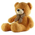 Teddy Bear Toy, Velveteen, punuar me dorë, i verdhë, 100cm,  PC