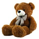 Teddy Bear Toy, Velveteen, punuar me dorë, ngjyrë kafe, 120cm,  PC