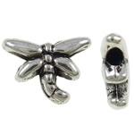 Beads Alloy zink Kafshëve, Pilivesë, Ngjyra antike argjendi praruar, asnjë, asnjë, , nikel çojë \x26amp; kadmium falas, 6x8x2mm, : 1mm, 4540PC/KG,  KG