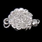 925 Sterling Silver Box kapje, Lule, argjend praruar vërtetë, vetme-fillesë, asnjë, 10x10x7mm, 5PC/Qese,  Qese