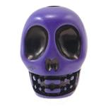 Antike Acrylperlen, Acryl, Schädel, opark, antik imitieren, violett, 14x18x17.50mm, Bohrung:ca. 2.8mm, 187PCs/Tasche, verkauft von Tasche