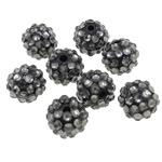 Beads diamant i rremë Rrëshirë, Rrëshirë diamant i rremë, Daulle, asnjë, i tejdukshëm, gri, 12x14mm, : 2.5mm, 100PC/Qese,  Qese