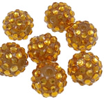 Beads diamant i rremë Rrëshirë, Rrëshirë diamant i rremë, Daulle, asnjë, i tejdukshëm, i verdhë, 12x14mm, : 2.5mm, 100PC/Qese,  Qese