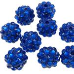 Beads diamant i rremë Rrëshirë, Rrëshirë diamant i rremë, Daulle, asnjë, i tejdukshëm, blu, 10x12mm, : 2mm, 100PC/Qese,  Qese