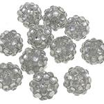 Beads diamant i rremë Rrëshirë, Rrëshirë diamant i rremë, Daulle, asnjë, i tejdukshëm, e bardhë, 10x12mm, : 2mm, 100PC/Qese,  Qese