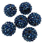 Beads diamant i rremë Rrëshirë, Rrëshirë diamant i rremë, Daulle, Ngjyra AB kromuar, asnjë, blu të errët, 16x18mm, : 2.5mm, 100PC/Qese,  Qese
