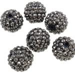 Beads diamant i rremë Rrëshirë, Rrëshirë diamant i rremë, Daulle, Ngjyra AB kromuar, asnjë, gri, 16x18mm, : 2.5mm, 100PC/Qese,  Qese