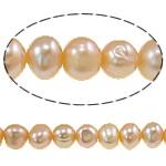 Barok Beads kulturuar Pearl ujërave të ëmbla, Pearl kulturuar ujërave të ëmbla, Round, asnjë, rozë, 6-7mm, : 0.8mm, :14.5Inç,  14.5Inç,