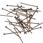 Iron Headpin, Hekur, Shape Tjera, ngjyrë bakri të praruar antike, asnjë, asnjë, , nikel çojë \x26amp; kadmium falas, 0.7x18mm, 18000PC/KG,  KG