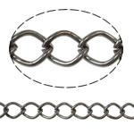 Stainless Steel Eyepins, Hekur, Petull e ëmbël në formë gjevreku, plumbit ngjyrë të zezë praruar, asnjë, asnjë, , nikel çojë \x26amp; kadmium falas, 7x10x1.40mm, :25m,  PC